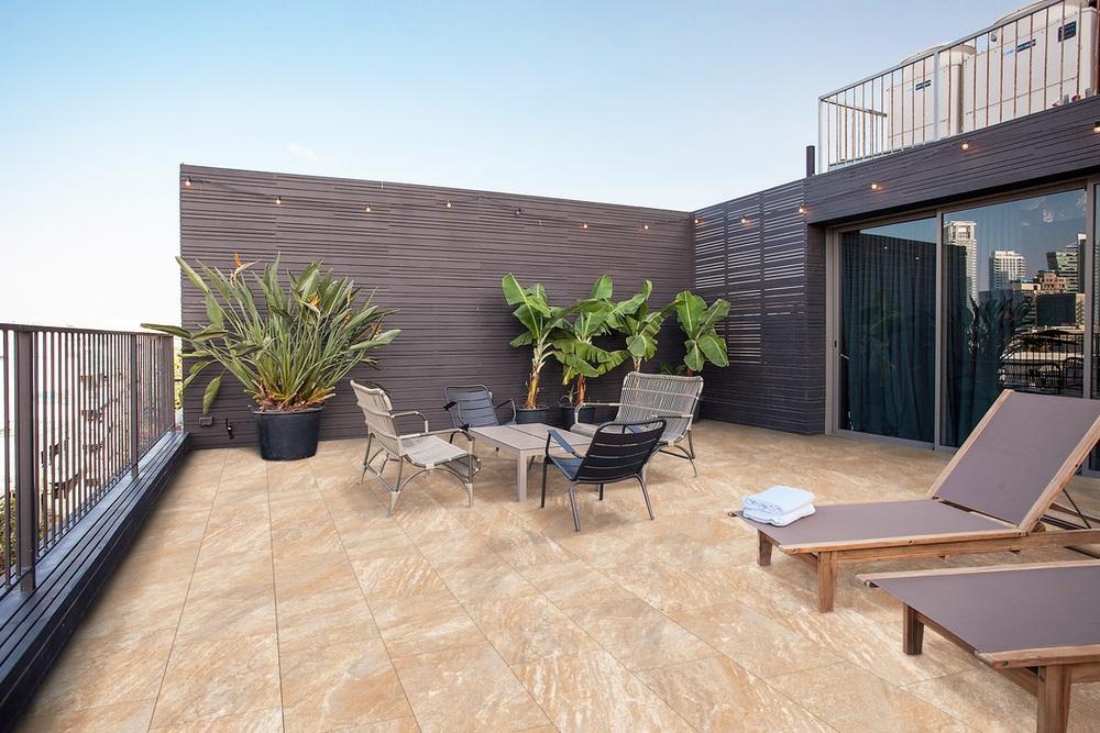 Fliesen Outdoor Terrasse großformat