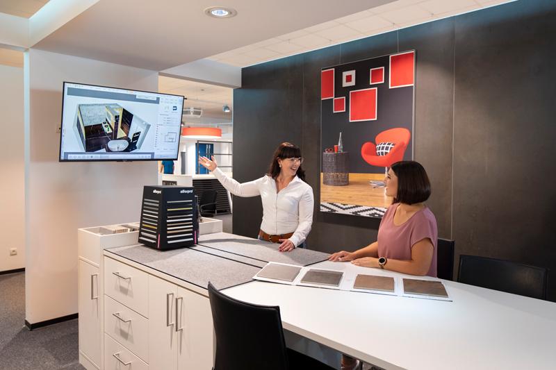 Hamann Ausstellung 3D Planung Mitarbeiter Badezimmer